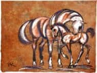 Coloured Mare & Foal II